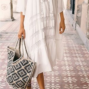 Free People Eva Printed Jute Tote